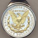 M65 U.S. .Morgan Silver dollar (reverse) (Eagle and wreath ) (1878 - 1921) clip size 1-1/2