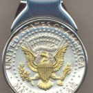 MM36 Kennedy half (reverse) (1970- date) Total size of clip 1-1/4