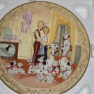 Walt Disney&#39;s Animated Classics 101 Dalmatians 1961 3D Bas Relief Plate