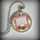 Chocolate - A Little Taste of Heaven Pendant Charm,  Necklace Pendant (p98)