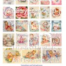 Vintage Baby or Birth Announcements Collage Sheets - Pick 1 of 3