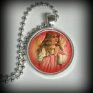 Angel Pendant Charm, Resin Necklace, Image Pendant, Angel Necklace (p1)
