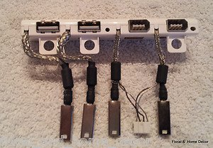 "Genuine Apple Cinema 20"" A1081 USBs FireWire Ports 0171-2242-1234 0171-2242-1471"