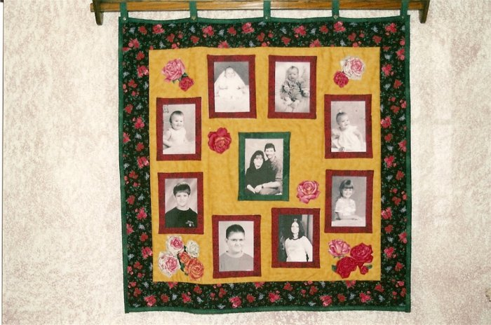 9 Picture Custom Photo Memory Quilt