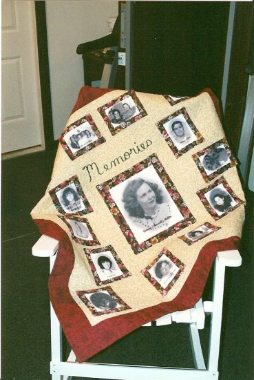 15 picture Custom Photo Memory Quilt