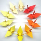 "100 LARGE OMBRE COLORS ORIGAMI CRANES FOR WEDDING DECORATIONS 6"" X 6"""