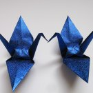 "1000 LARGE SHINY ROYAL BLUE ORIGAMI CRANES FOR WEDDING DECORATIONS 6"" X 6"""