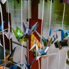 COLORFUL ORIGAMI CRANES GARLANDS FOR WEDDING DECORATIONS SET OF 100 STRANDS