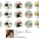 leaf altered art -1inch circles Bottle Cap Collage Digi Art Set