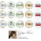 inspring words altered art -1inch circles Bottle Cap Collage Digi Art Set