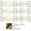 inspired words altered art -1inch circles Bottle Cap Collage Digi Art Set