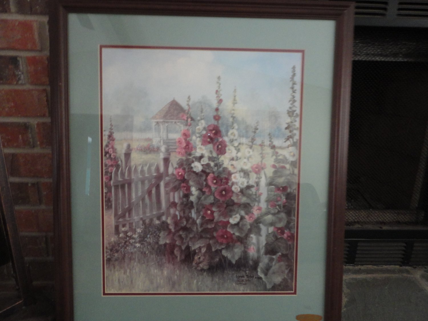 Vintage Glynda Turley Hollyhocks Ii Limited Edition Signed