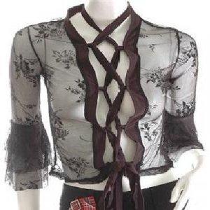 GOTH GOTHIC FASHION CLOTHING JAPANESE HARAJUKU CLOTHES RUNWAY VAMPIRE JACKET TOP
