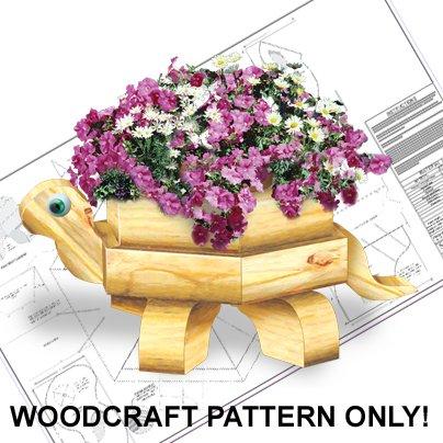 Landscape Timber Turtle Planter Plan ECR 2344