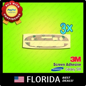 3 lot Samsung Galaxy S3 SIII 3M Digitizer Adhesive Screen i9300 I747 Replacement
