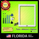 White Touch Screen Glass Digitizer LCD Replacement Kit Adhesive Tools 3M iPad 2