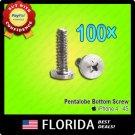 100 lot 5 Point Star Pentalobe Dock Bottom Screws iPhone 4 4G 4S Set x100 100x