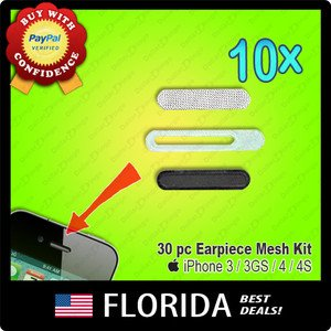 lot 10 adhesive earpiece speaker anti dust screen mesh grill iphone 3GS 4 4G 4S