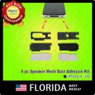 Bottom Speaker Kit Anti Dust Mesh Adhesive Holder Cover iPhone 4 4G