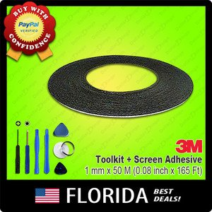 1mm 50m 3M Double Sided Adhesive Tape Phone LCD Touch Screen Tools Roll Toolkit