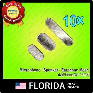 10 Ear Speaker Mesh Earphone Dust Cover Speaker Microphone Ringer iPhone 3G 3GS