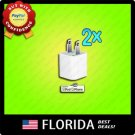 2 lot USB USA AC Power Adapter Wall Charger Plug iPod iPhone 3GS 4 4G 4S 5 2x x2