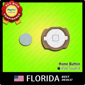 White Home Button Rubber Holder Kit Replacement Apple iPod Touch 4 4th Gen Parts