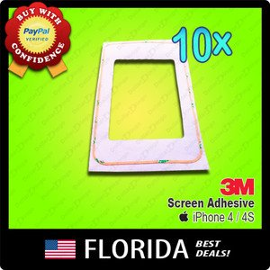 10 Adhesive Tape Sticker iPhone 4 4S LCD Lens Frame x10 lot