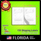 "150 lot Shipping Postage Labels 8.5"" x 5.5"" Half Page Adhesive Standard eBay XL"