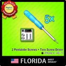 5 lot Pentalobe Torx Screw Driver Screwdriver 10 Bottom Tools iPhone 4 4S Star