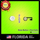 White Home Menu Button Flex Cable Ribbon Cap Assembly Replacement iPhone 4 4G