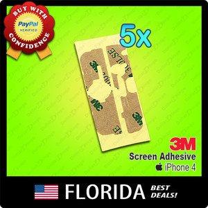 5 lot Apple iPhone 4 4G Screen 3M Tape Adhesive Glue Sticker piece pcs 5x x5