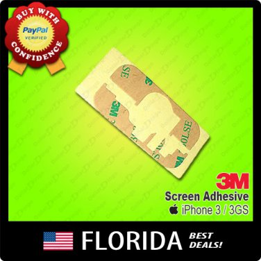 New Apple iPhone 3GS 3G 3M Tape Screen Adhesive Glue Sticker
