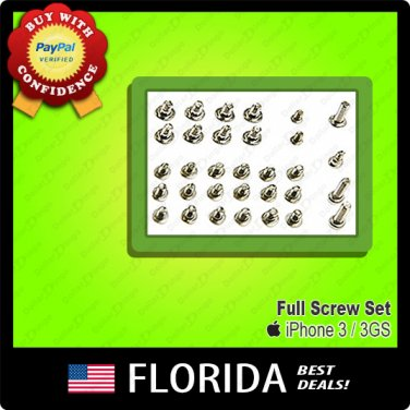 New Replacement Full Screw Set iPhone 3 3G 3GS Kit Screws Bottom 32 piece pcs