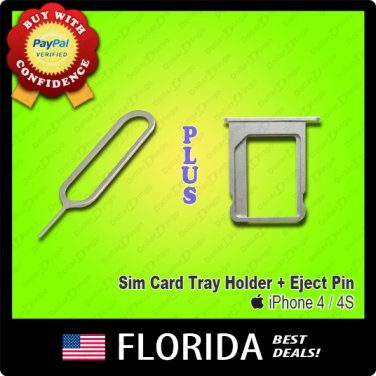 Sim Card Tray Holder Slot Apple iPhone 4 4G 4S Eject Ejection Tool Replacement