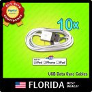 10 Pack USB Data Sync Charger Cable Apple iPod Touch iPhone 3GS 4 4S lot 10x x10