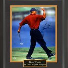 Tiger Woods Autographed Open Championship Photo Framed