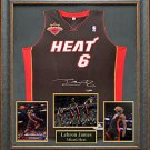 LeBron James Autographed Jersey Framed