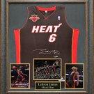 LeBron James Autographed Jersey Framed
