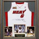 LeBron James Signed Jersey Framed