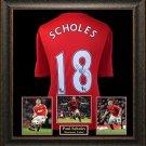 Paul Scholes Autographed Jersey Framed
