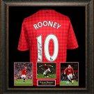 Wayne Rooney Autographed Jersey Framed