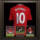 Wayne Rooney Signed Jersey Framed