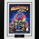Madagascar 3 Mini Movie Poster Matted & Framed