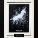 "Batman Movie ""Dark Knight Rises"" Matted and Framed Poster"