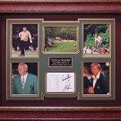 Jack Nicklaus and Arnold Palmer Signed Score Card Framed