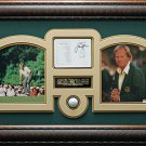 Jack Nicklaus Signed Augusta National Score Card Collage