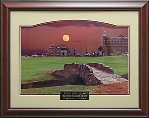Moon Over St. Andrews by Steve Heit Framed Photo