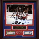 Miracle On Ice Jim Craig Signed Photo Framed