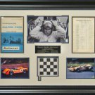 Bruce McLaren Autographed Framed Display